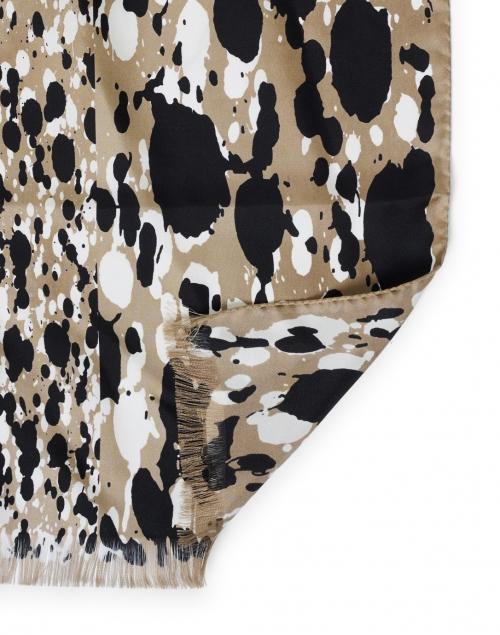 Max Mara Studio - Mazurca Beige Dot Animal Print Silk Scarf