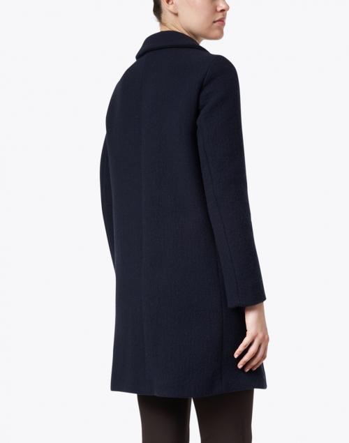 Weekend Max Mara - Pece Navy Wool Notch Collar Coat