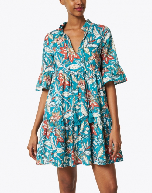 Jude Connally - Maria Jade Floral Cotton Voile Dress