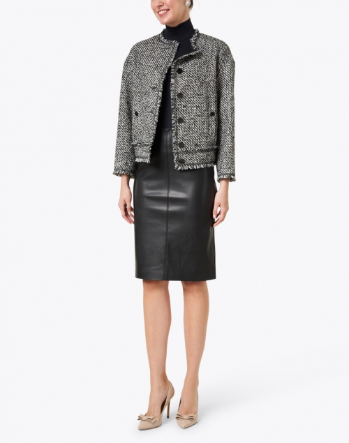 Brochu Walker - River Black Faux Leather Pencil Skirt