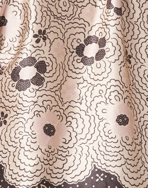 Warm - Ines Black and White Cherry Blossom Print Blouse