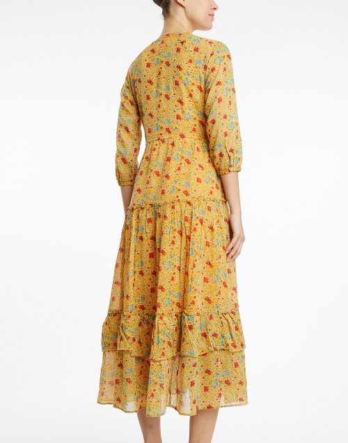 Banjanan - Bazaar Bright Marigold Floral Cotton Dress