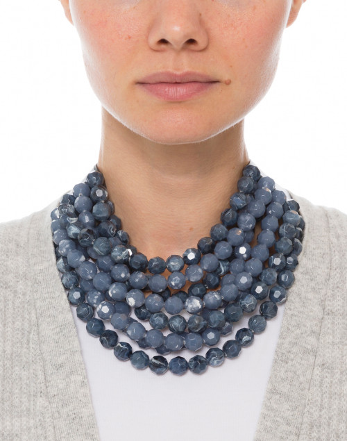 Fairchild Baldwin - Bella Two-Tone Marble Navy Necklace