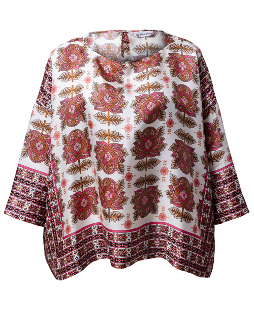 Le Sarte Pettegole - Pink and White Floral Silk Top