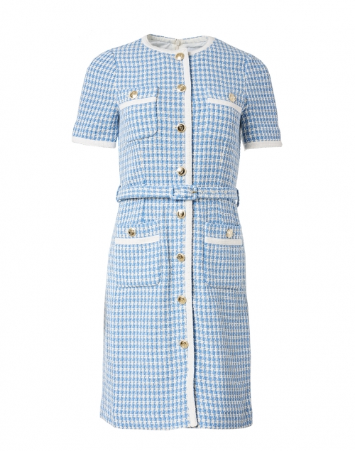 L.K. Bennett - Valentina Blue and White Tweed Dress