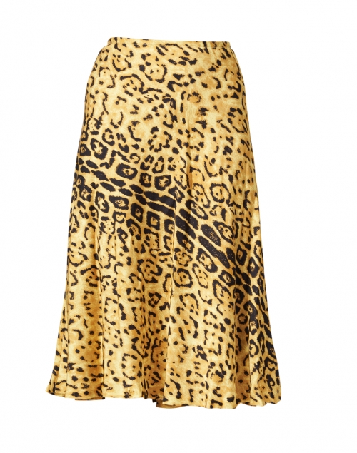 Kobi Halperin Kathy Chartreuse Bengal Print Crepe Skirt