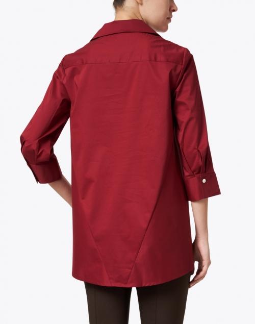 Hinson Wu - Betty Burgundy Button Down Stretch Cotton Shirt