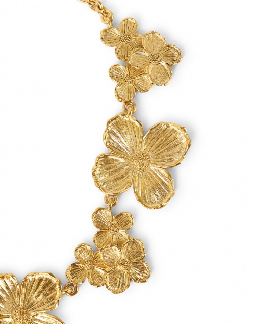 Kenneth Jay Lane - Gold Flowers Necklace