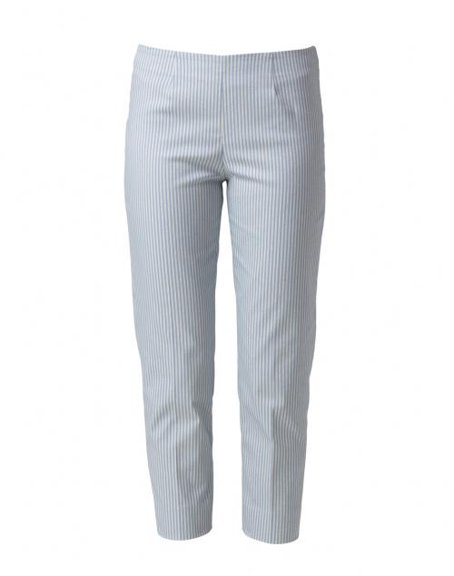Piazza Sempione Audrey Pale Blue Striped Stretch Cotton Pant