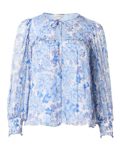 Shoshanna - Simona Blue Floral Georgette Blouse