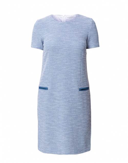 Amina Rubinacci - Cadel Blue and White Knit Dress
