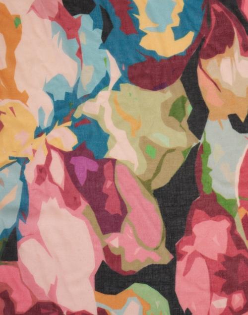 Kinross - Multicolored Winter Floral Print Silk Cashmere Scarf