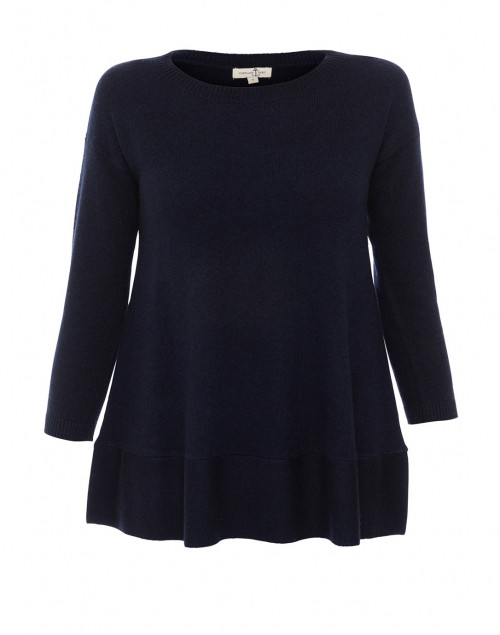 Cortland Park - Saint Tropez Navy Cashmere Swing Sweater
