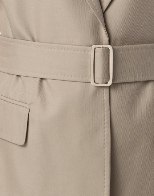 Max Mara - Cersare Stone Cotton Belted Jacket