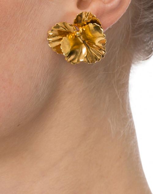 Jennifer Behr - Pansy Gold Stud Earrings