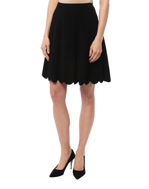 Marc Cain - Black Knit Scalloped Hem Skirt