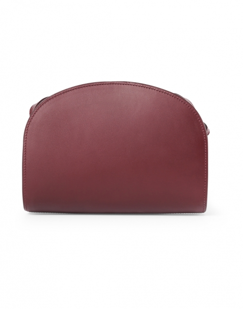A.P.C. - Wine Demi Lune Leather Crossbody Bag