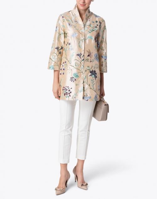 Connie Roberson - Rita Champagne English Garden Embroidered Silk Jacket