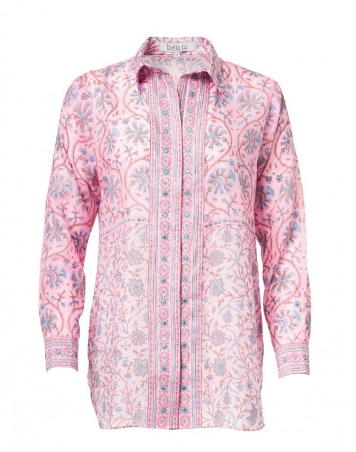 Bella Tu - Natalie Pink Floral Print Shirt