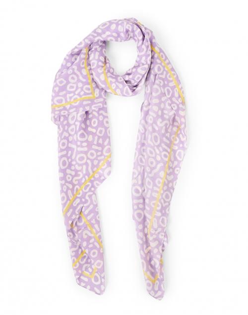 Amato - Lavender Geo Printed Silk Scarf