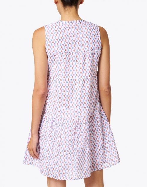 Oliphant - Blue Confetti Print Cotton Voile Dress
