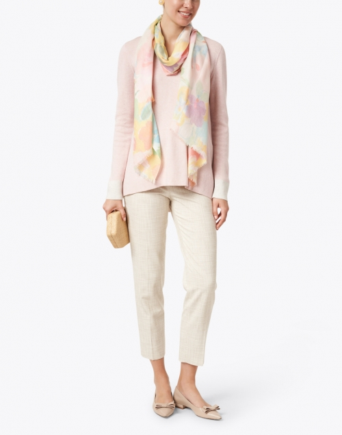 Kinross - Powder Pink Cotton Cashmere Sweater