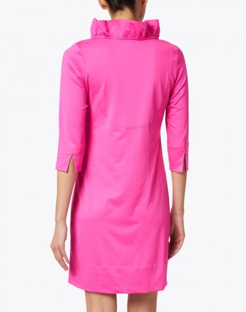 Gretchen Scott - Pink Ruffle Neck Dress