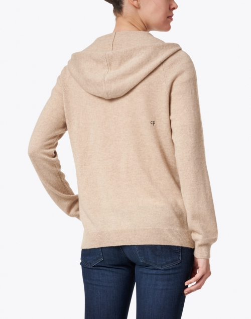 Chinti and Parker - Oatmeal Beige Cashmere Zip Up Hoodie