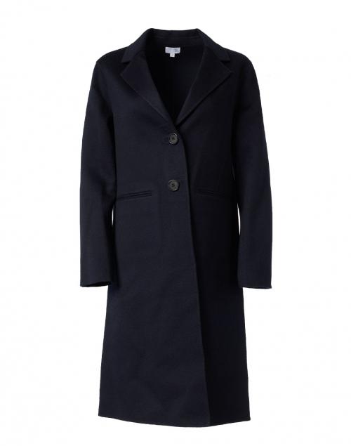 TSE Cashmere Navy Double Face Cashmere Coat