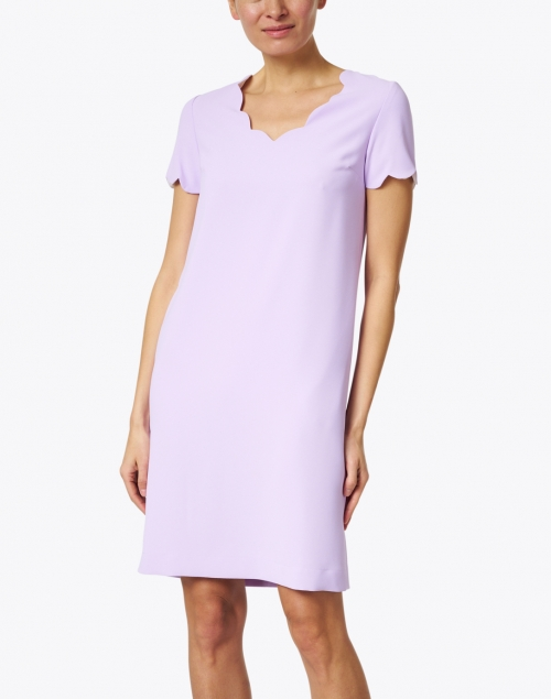 Weill - Lilac Scalloped Crepe Dress