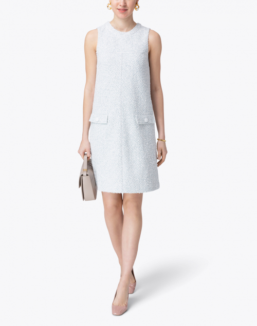 Paule Ka - Blue Tweed Shift Dress