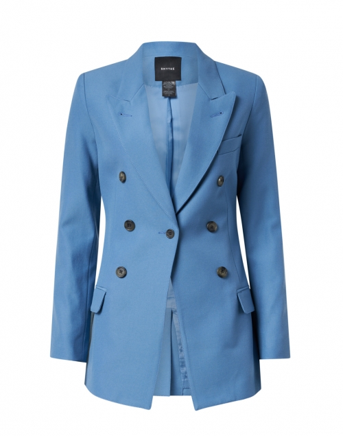 Smythe - Slate Blue Single Button Blazer