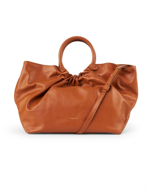 DeMellier - Los Angeles Deep Tan Smooth Leather Ruched Tote