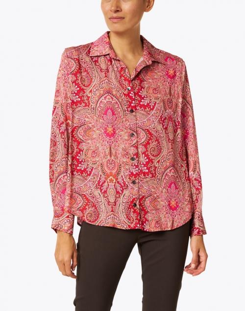 Finley - Beckett Ruby Paisley Shirt