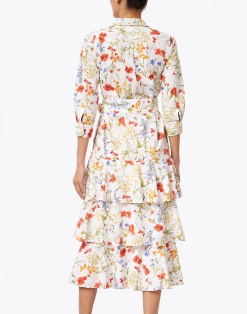 Sara Roka - Mynaxa Wild Floral Printed Cotton Shirt Dress