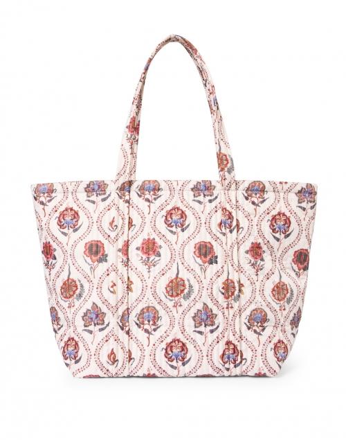 Loeffler Randall - Avery Ivory Bloom Floral Printed Quilted Tote Bag
