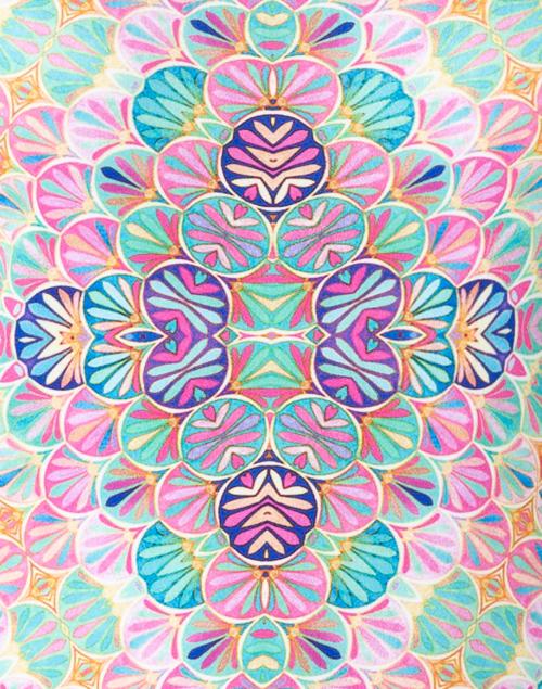 Leggiadro - Kaleidoscope Print Jersey Tee