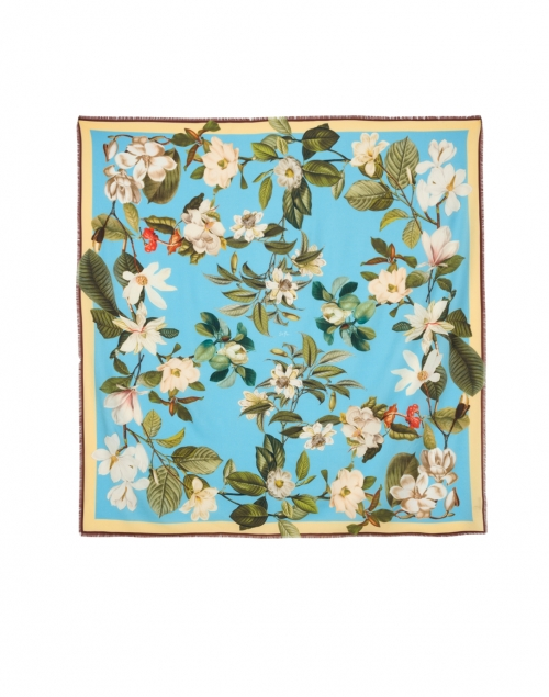 St. Piece - Oksana Blue Floral Wool and Cashmere Scarf