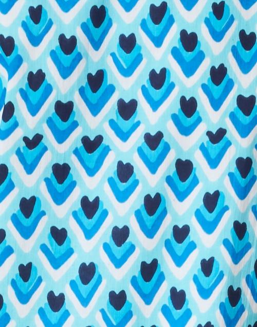 Sail to Sable - Blue Teardrop Print Cotton Voile Dress