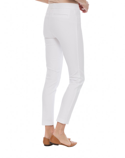 Ecru - Madison White Cotton Power Stretch Pant