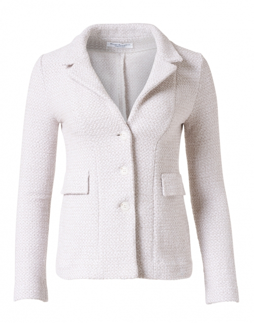 Amina Rubinacci - Essere Gold Cotton Knit Blazer Jacket