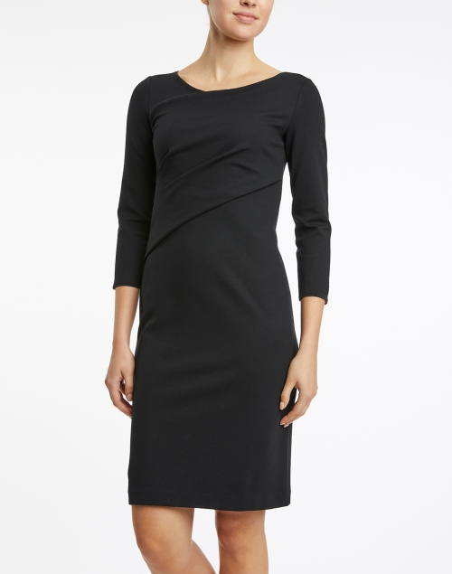 Emporio Armani - Black Ruched Jersey Dress