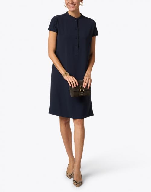 Aspesi - Navy Cady Henley Dress