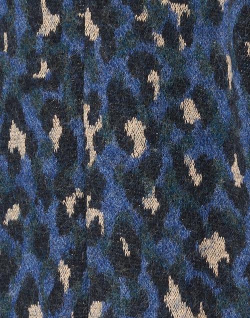 Vilagallo - Alberta Blue Leopard Print Wool Cotton Jacket