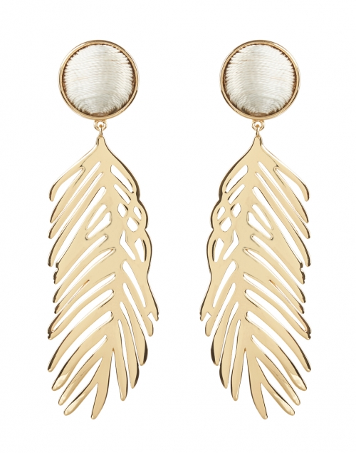 Mignonne Gavigan Cooper Gold Palm Drop Earrings