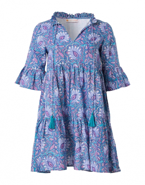 Jude Connally Maria Blue Floral Cotton Voile Dress