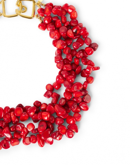 Kenneth Jay Lane - Coral Multi-Strand Necklace