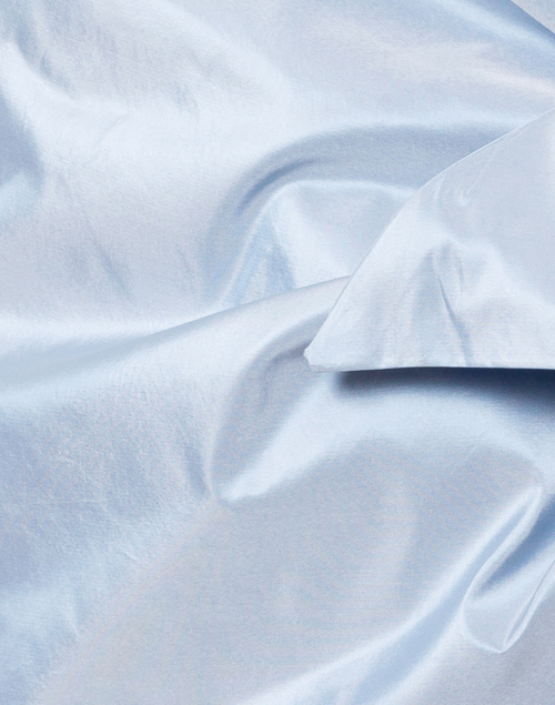 Amato - Pale Blue Silk Taffeta Shawl