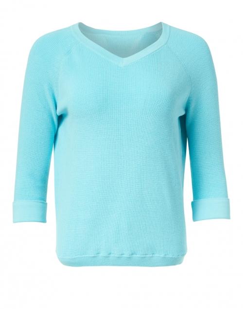 Kinross - Aqua Pima Cotton Shaker Sweater