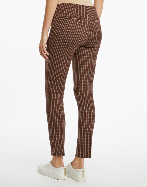Ecru - Springfield Spice and Camel Check Power Stretch Pull On Pant